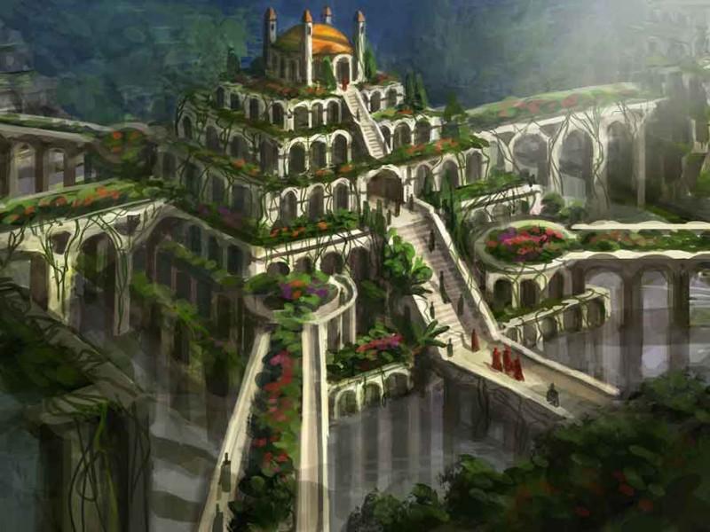 Висящите градини на Семирамида...